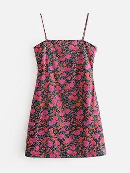 Vintage Style Floral Sleeveless Summer Dresses