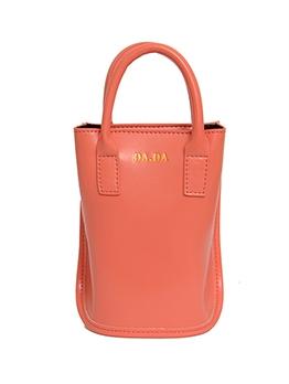 Pure Color Detachable Belt Crossbody Bucket Bag