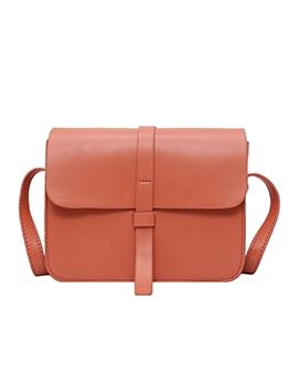 Minimalist Style Pure Color Versatile Cross Shoulder Bags