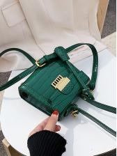 Square Shape Alligator Print Small Crossbody Bags