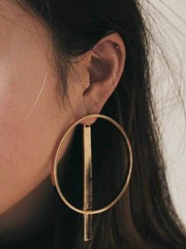 3pcs Circle Geometric Statement Earrings