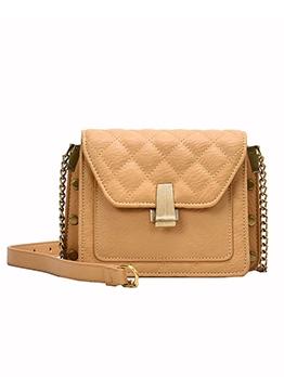 Thread Rhombus Lattice Chain Shoulder Bags For Women