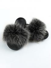 Fashion Faux Fur Women Fluffy Slippers