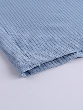 Pure Color Skinny Short Sleeve Ladies Dress