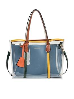Transparent PVC Stitching Color Large Capacity Shoulder Bag