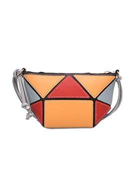 Geometric Blocks Contrast Color Cross Shoulder Bags