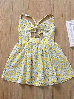 Backless Sleeveless Casual Flower Girl Dresses