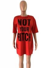 Loose Letter Printed t Shirt Dress