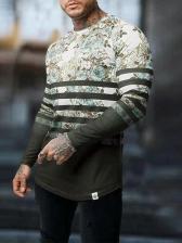 Stylish Floral Printed Long Sleeve t Shirt Printing