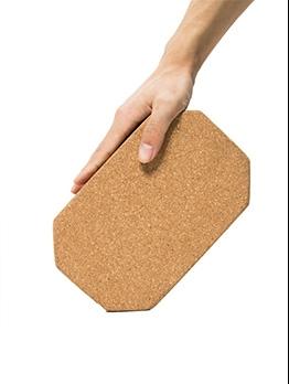 Polygon Pure Color High Density Cork Material Yoga Brick