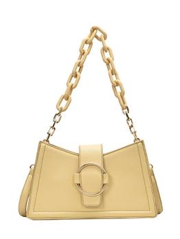 Thick Chain Adjustable Belt Solid Color Shoulder Bags