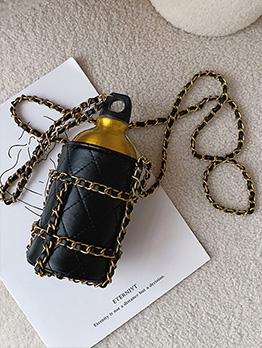 Kettle Shape Threads Chain 2 Piece Crossbody Bags