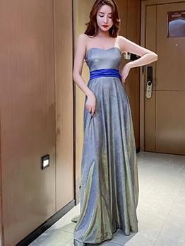 Fitted Glitter Sleeveless Petite Formal Dress