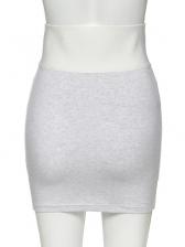 Easy Matching High Waist Elastic Letter Short Skirt