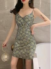 Vintage Geometrical Print Sleeveless Summer Dress