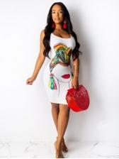 Scoop Neck Printed Sleeveless Summer Dresses