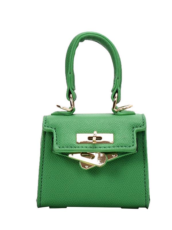 Casual Metal Lock Solid Color Mini Crossbody Bags