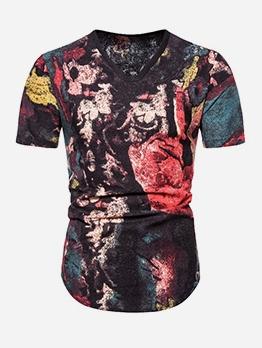 Vintage Printed Plus Size t Shirt Design