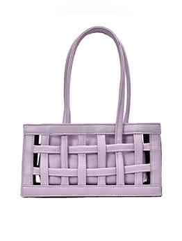Hollow Out Design Pure Color 2 Piece Handbags Set