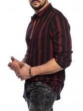 Stylish Striped Men Long Sleeve Shirts