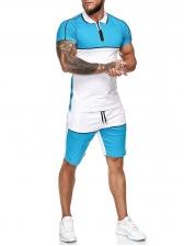 Summer Color Block Short Sleeve Cheap Activewear