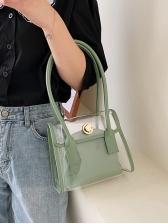 Transparent PVC Patchwork New Arrivals 2 Piece Handbags
