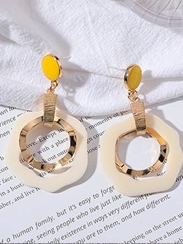 Vintage Style Geometric Drop Earrings For Women
