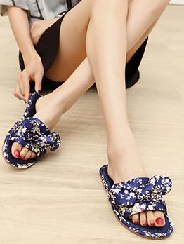 Korean Stain Bowknot Women Stylish Slippers