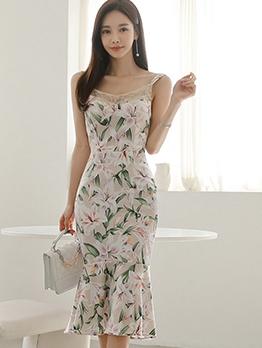 Summer Flower Printed Camisole Ladies Dress