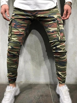 Modern Pockets Mens Camouflage Pants