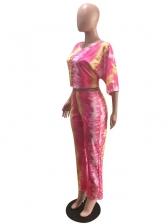 Fashion Wide Leg Tie Dye Two Piece Set