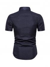 Fashion Dots Button Up Shirts For Men