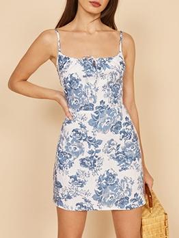 Vintage Printed Slip Summer Ladies Dress