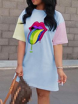 Casual Loose Half Sleeve t Shirt Dress