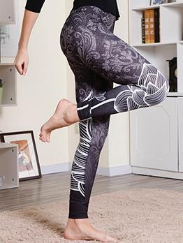 Digital Print High Waist Sports Leggings