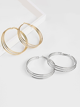 Statement Multi-Layer Matte Hoop Earrings
