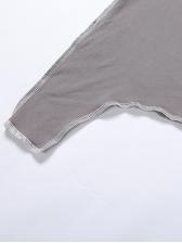 Irregular Plain Skinny Tracksuit Set Pure Color