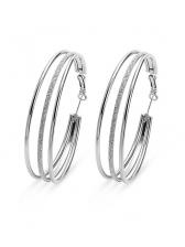 Statement Multi-Layer Matte Hoop Earrings
