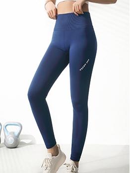 Letter High Waist Butt Lifter Quick-drying Yoga Leggings