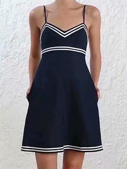 Open Back v Neck Slip Summer Dresses