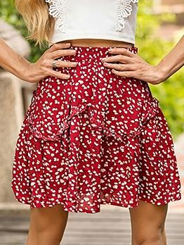 Stringy Selvedge High Waist Floral Skirt