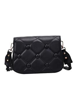 Threads Detachable Shoulder Strap Solid Crossbody Bags