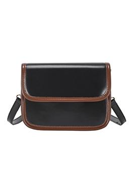 Stitching Color Edges Adjustable Belt Cross Shoulder Bags