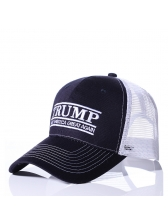 Letter Embroidery Color Block Baseball Cap