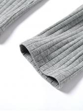 Plain Solid Color Crop Top And Pants Yoga Tracksuit Set