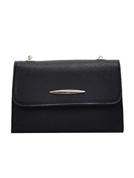 Versatile Solid Color Golden Chain Small Shoulder Bags