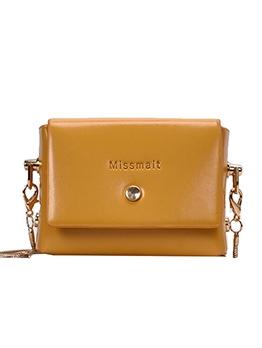 Adjustable Belt Solid Color Mini Crossbody Bum Bag