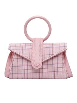 Classic Plaid Round Handle New Arrivals Shoulder Bags
