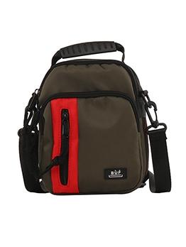 Multiple Zipper Detachable Belt Nylon Crossbody Bags