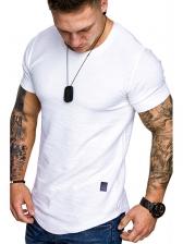 Leisure Solid Short Sleeve Tee Shirts